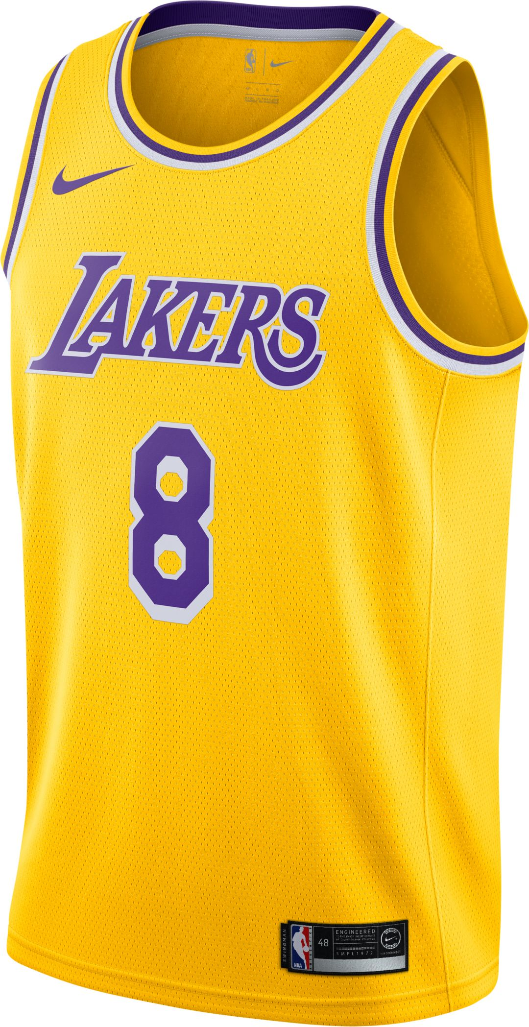 df1a5ffac Nike Men s Los Angeles Lakers Kobe Bryant  8 Dri-FIT Gold Swingman Jersey 2