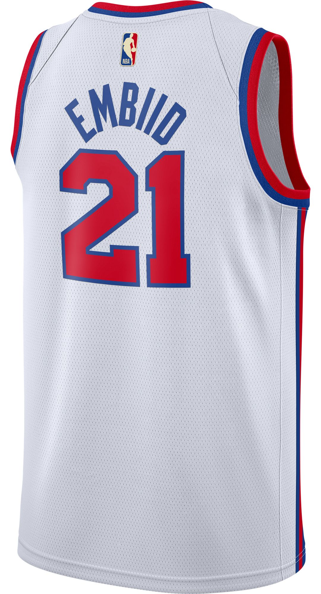 pretty nice 36798 d600a Nike Men's Philadelphia 76ers Joel Embiid #21 Hardwood Classic Dri-FIT  Swingman Jersey