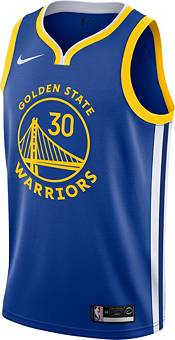 Nike Men's Golden State Warriors Stephen Curry #30 Royal Dri-FIT Swingman Jersey product image