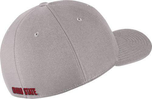 e19bce8e60c0e Nike Men s Ohio State Buckeyes Gray Classic99 Swoosh Flex Hat ...