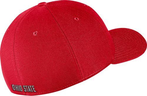 080198864ede1 Nike Men s Ohio State Buckeyes Scarlet Classic99 Swoosh Flex Hat ...