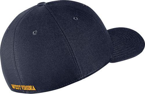 27df249bdf7 Nike Men s West Virginia Mountaineers Blue Classic99 Swoosh Flex Hat ...