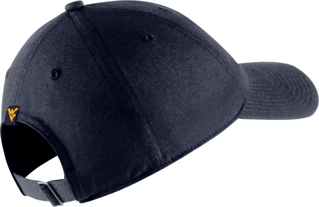 ef03cf113 Nike Men's West Virginia Mountaineers Blue Heritage86 Arch Wordmark Hat