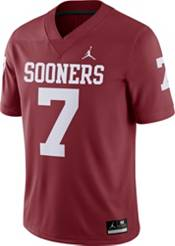 Jordan Men's Oklahoma Sooners #7 Crimson Dri-FIT Game Football Jersey product image