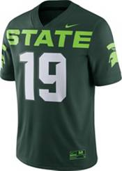 Nike Men's Michigan State Spartans #19 Green Dri-FIT Game Football Jersey product image