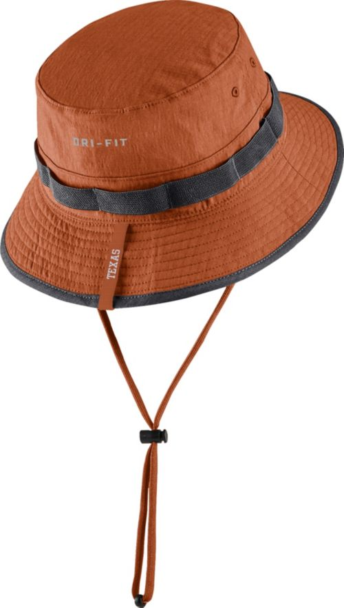 outlet store 0545c 6ee2b Nike Men s Texas Longhorns Burnt Orange Dri-FIT Sideline Bucket Hat
