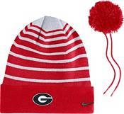 Nike Men's Georgia Bulldogs Red Football Sideline Cuffed Pom Beanie product image