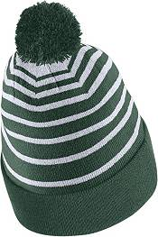 Nike Men's Michigan State Spartans Green Football Sideline Cuffed Pom Beanie product image