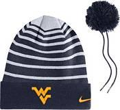 Nike Men's West Virginia Mountaineers Blue Football Sideline Cuffed Pom Beanie product image