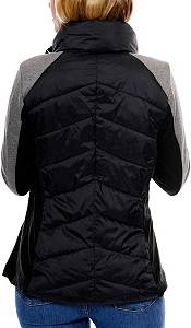 Be Boundless Mixed Media Soft Quilted Nylon Jacket product image