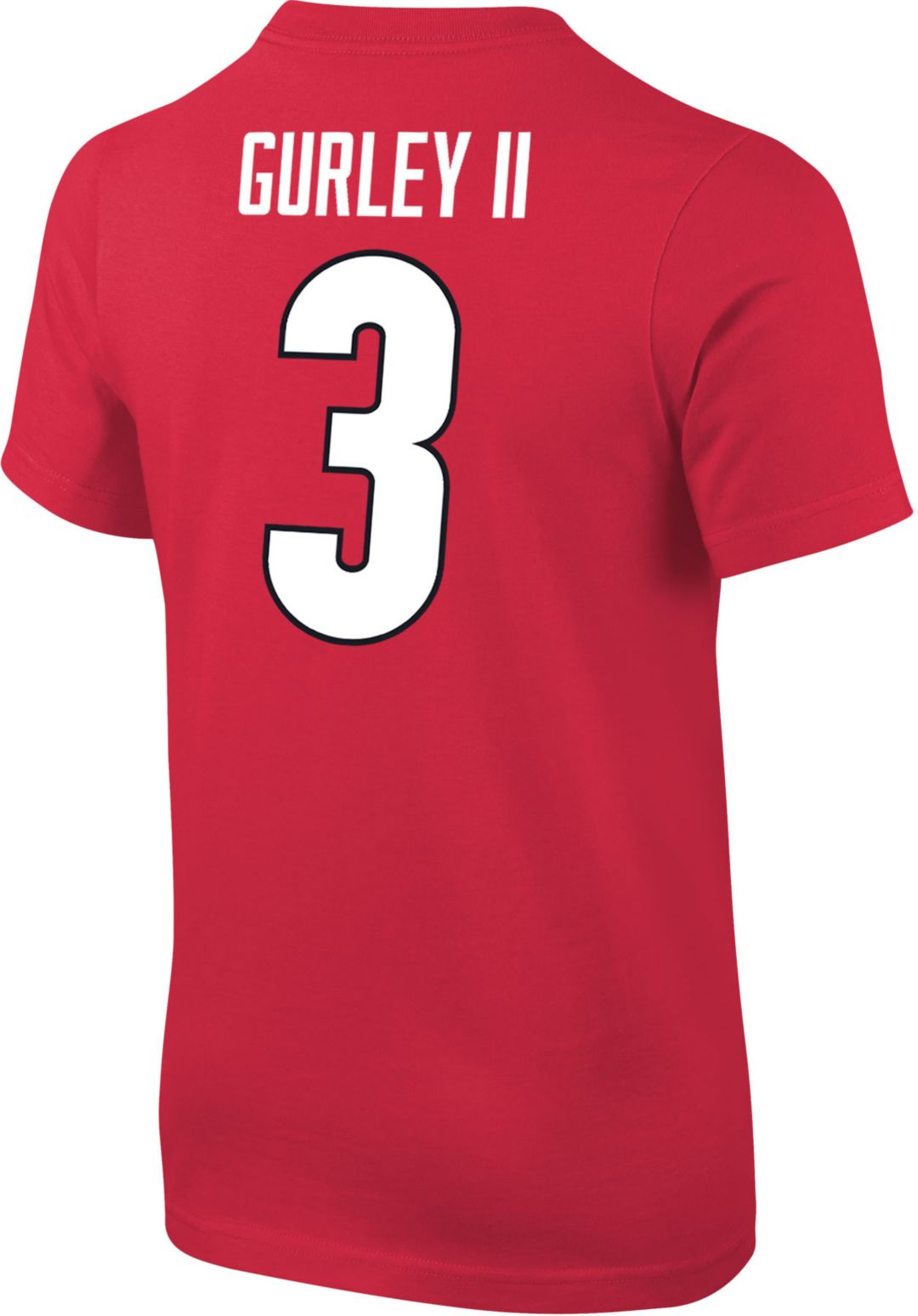 finest selection 3b71b e8f14 Nike Youth Todd Gurley II Georgia Bulldogs #3 Red Cotton Football Jersey  T-Shirt