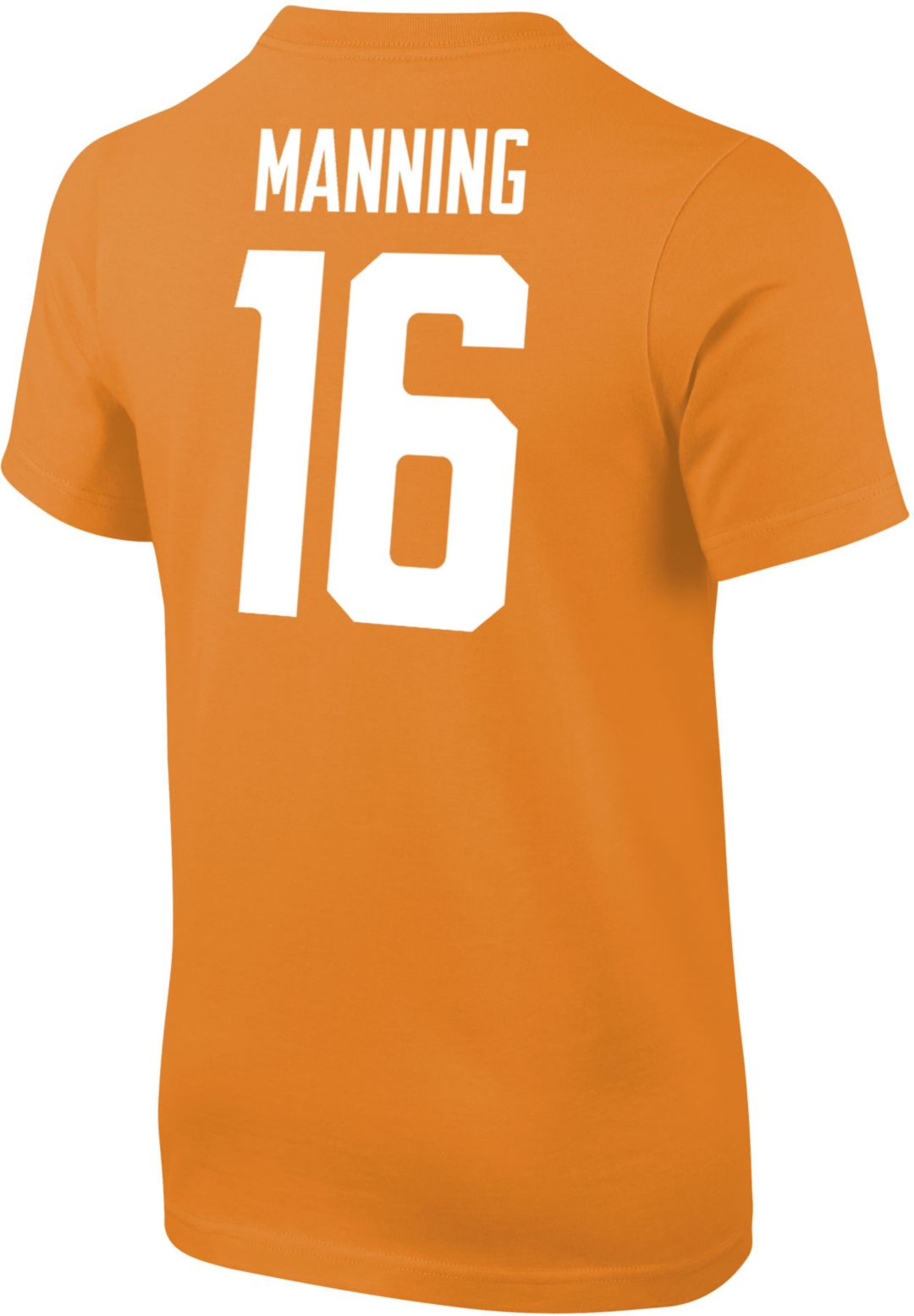 quality design 633d6 84bd0 Nike Youth Peyton Manning Tennessee Volunteers #16 Tennessee Orange Cotton  Football Jersey T-Shirt