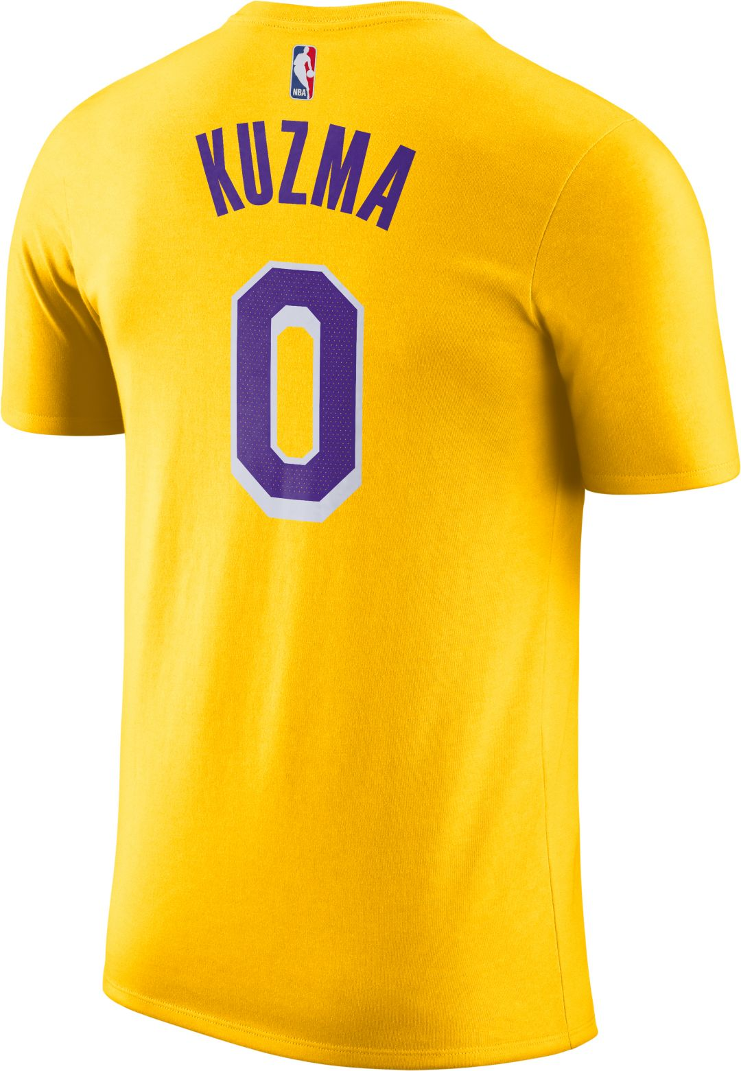 best website cec38 64170 Nike Youth Los Angeles Lakers Kyle Kuzma #0 Dri-FIT Gold T-Shirt