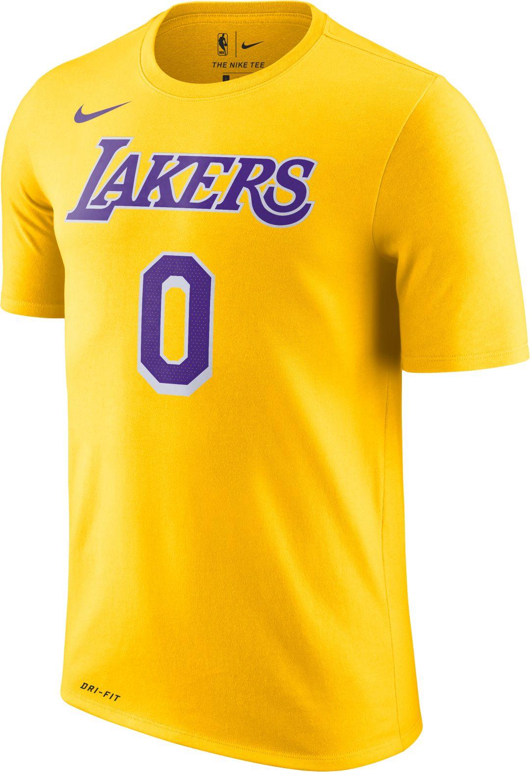 21da49c3c2ea Nike Youth Los Angeles Lakers Kyle Kuzma  0 Dri-FIT Gold T-Shirt ...