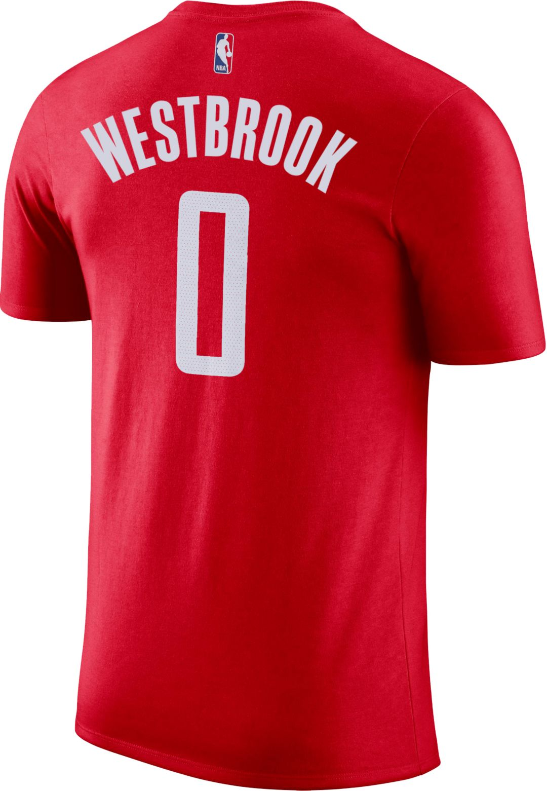 sale retailer 97e61 50a5e Nike Youth Houston Rockets Russell Westbrook #0 Dri-FIT Red T-Shirt