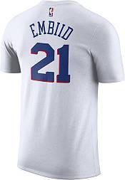 Nike Youth Philadelphia 76ers Joel Embiid #21 Dri-FIT White T-Shirt product image