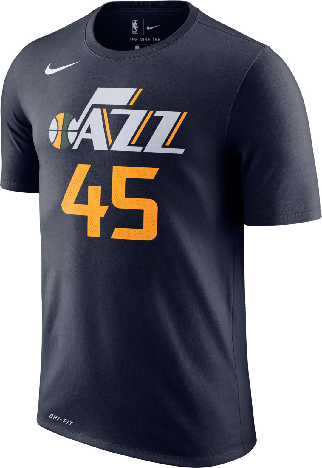 new product 564fc e4791 Nike Youth Utah Jazz Donovan Mitchell #45 Dri-FIT Navy T-Shirt