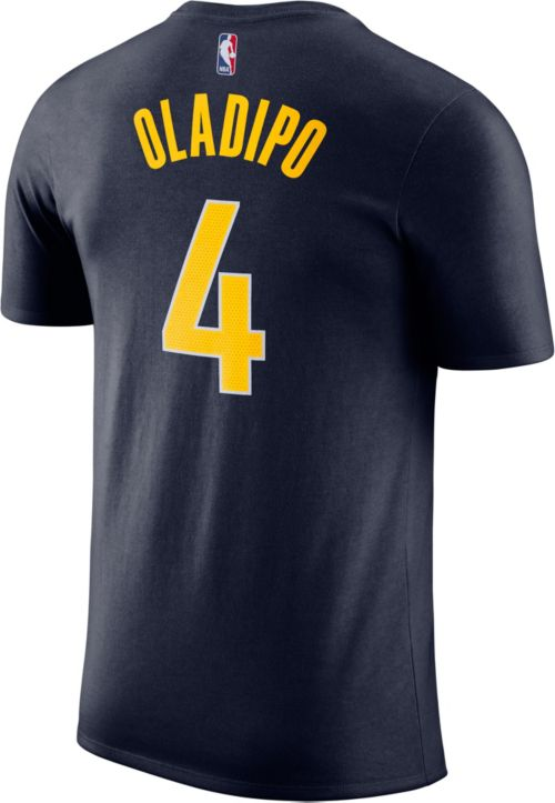 325853567582 Nike Youth Indiana Pacers Victor Oladipo  4 Dri-FIT Navy T-Shirt.  noImageFound. Previous. 1. 2. 3