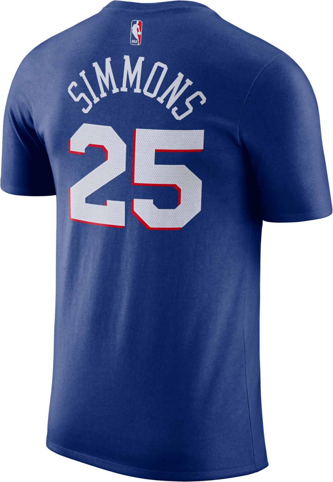 pretty nice 4bd6d c235f Nike Youth Philadelphia 76ers Ben Simmons #25 Dri-FIT Royal T-Shirt