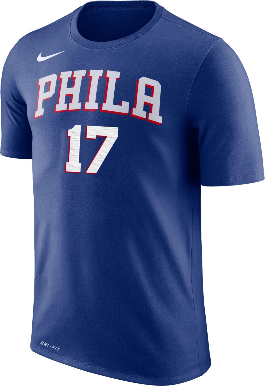 11f4fe0ef1c Nike Youth Philadelphia 76ers J.J. Redick #17 Dri-FIT Royal T-Shirt ...