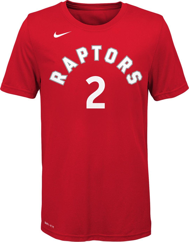 05e80b0dd Nike Youth Toronto Raptors Kawhi Leonard #2 Dri-FIT Red T-Shirt ...