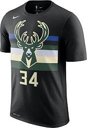 Nike Youth Milwaukee Bucks Giannis Antetokounmpo #34 Dri-FIT Statement Black T-Shirt product image
