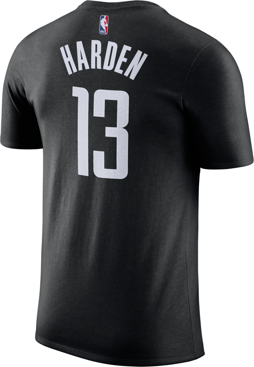 official photos 992fa 7bb28 Nike Youth Houston Rockets James Harden #13 Dri-FIT Black T-Shirt