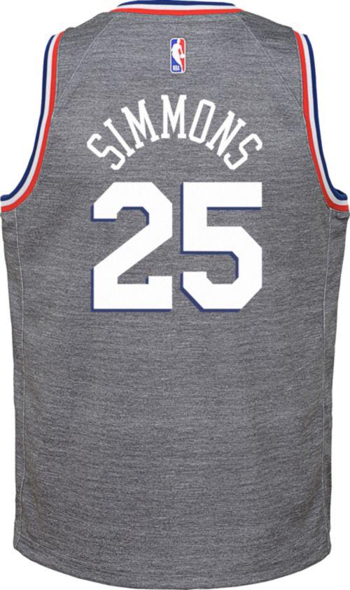5ab458c85 Nike Youth Philadelphia 76ers Ben Simmons Dri-FIT City Edition Swingman  Jersey. noImageFound. Previous. 1. 2. 3
