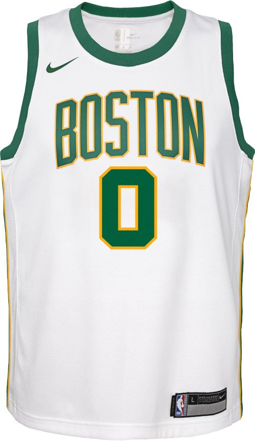 6bf92051403 Nike Youth Boston Celtics Jayson Tatum Dri-FIT City Edition Swingman Jersey