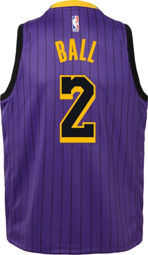 2cc4cfb50b0 Nike Youth Los Angeles Lakers Lonzo Ball Dri-FIT City Edition Swingman  Jersey. noImageFound. Previous. 1. 2. 3