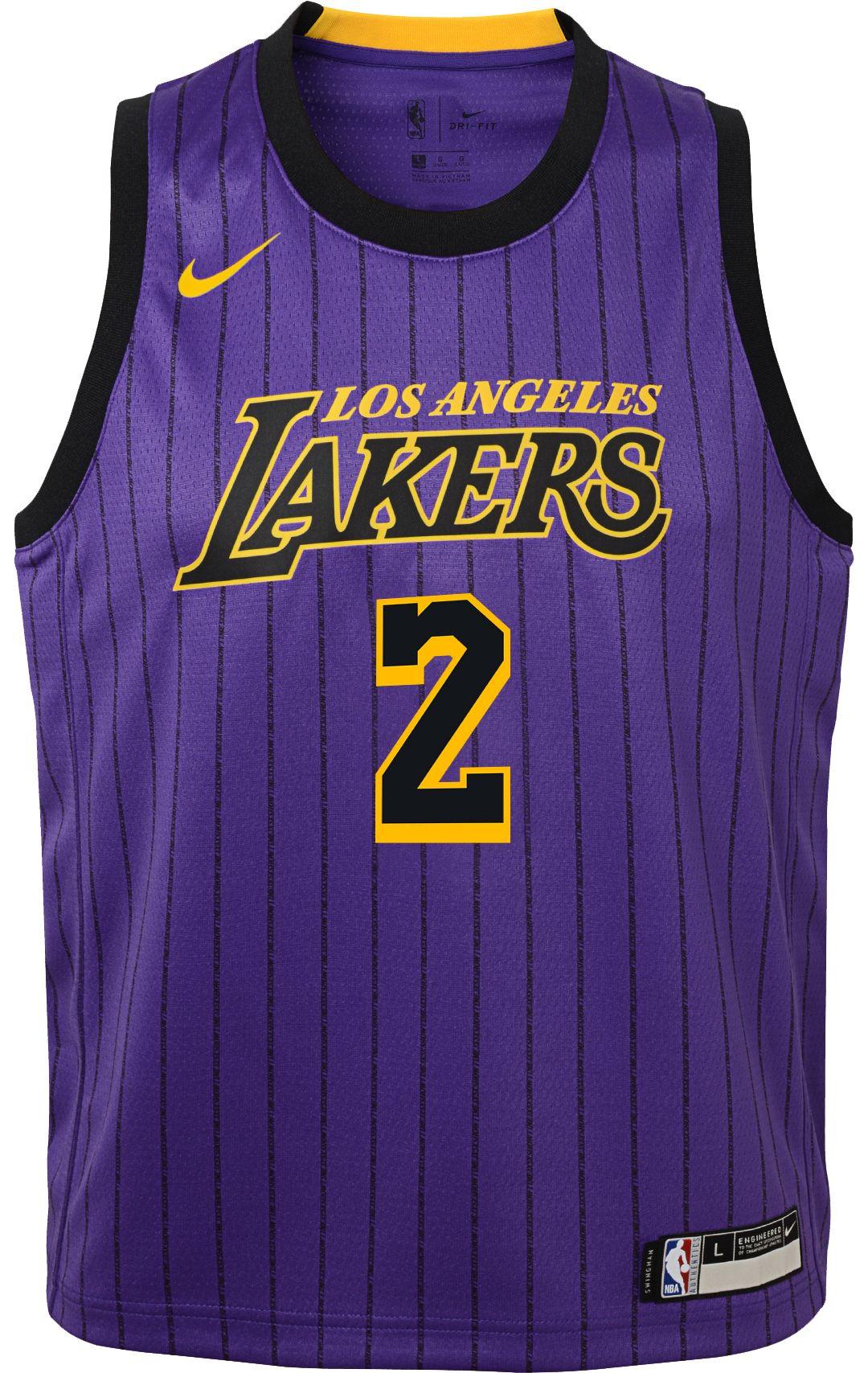 size 40 043b4 698ca Nike Youth Los Angeles Lakers Lonzo Ball Dri-FIT City Edition Swingman  Jersey
