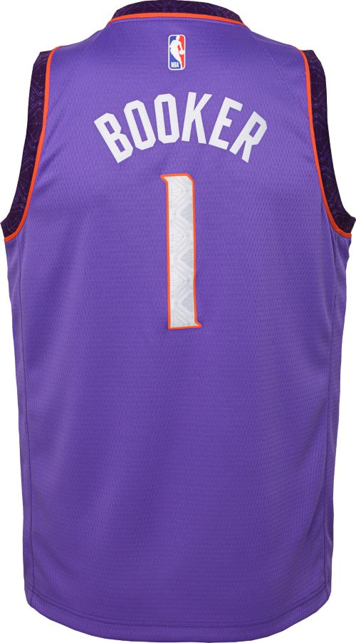 712a77897 Nike Youth Phoenix Suns Devin Booker Dri-FIT City Edition Swingman Jersey.  noImageFound. Previous. 1. 2. 3