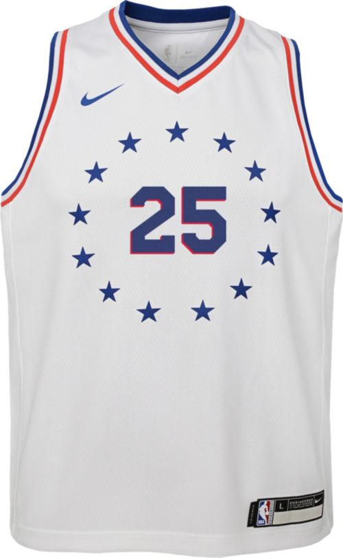 22fa59d8812 Nike Youth Philadelphia 76ers Ben Simmons Dri-FIT Earned Edition Swingman  Jersey
