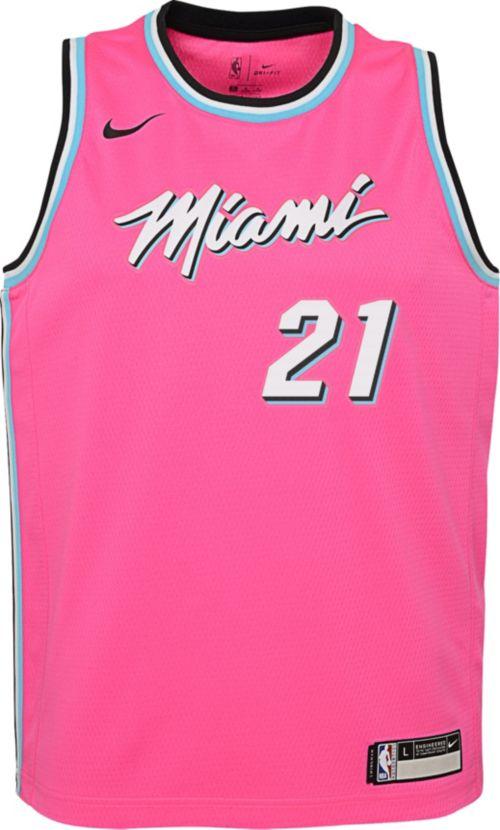 96a2bb4eade Nike Youth Miami Heat Hassan Whiteside Dri-FIT Earned Edition Swingman  Jersey