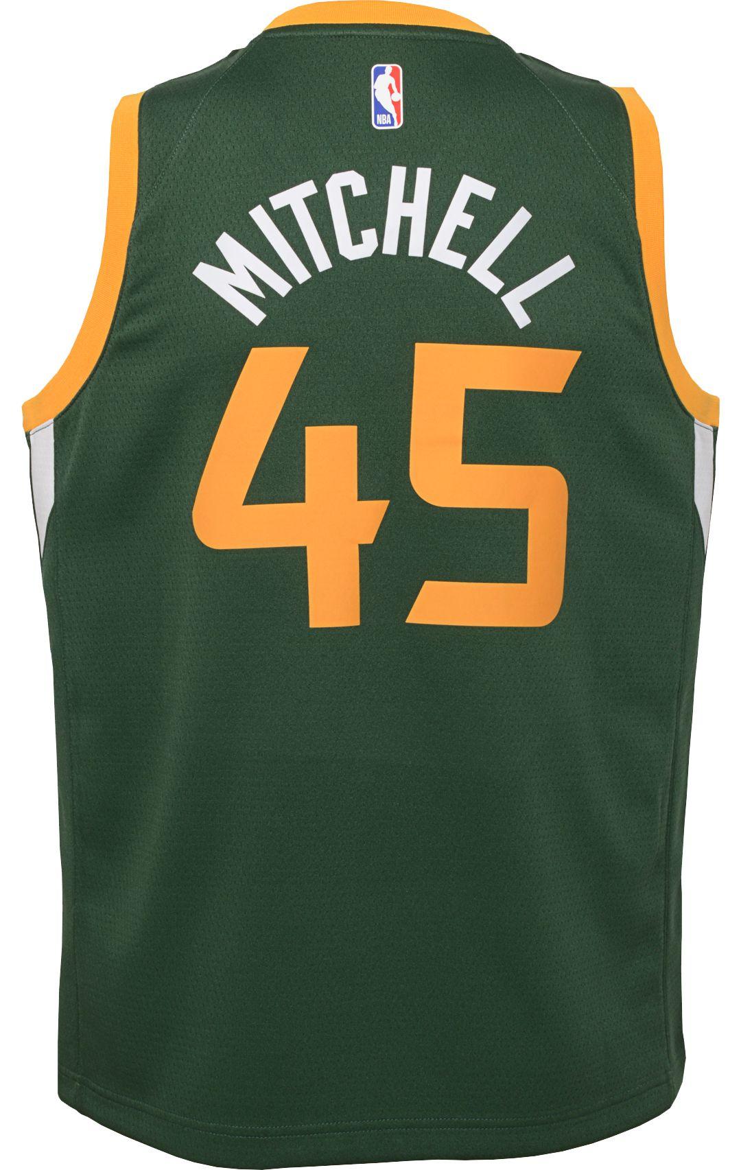 best website 22040 97d48 Nike Youth Utah Jazz Donovan Mitchell Dri-FIT Earned Edition Swingman Jersey