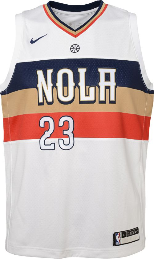 3ea434f6106 Nike Youth New Orleans Pelicans Anthony Davis Dri-FIT Earned Edition  Swingman Jersey