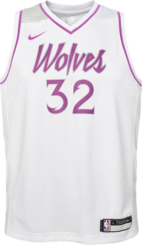 bd9f1b3c9f8 Nike Youth Minnesota Timberwolves Karl-Anthony Towns Dri-FIT Earned Edition  Swingman Jersey