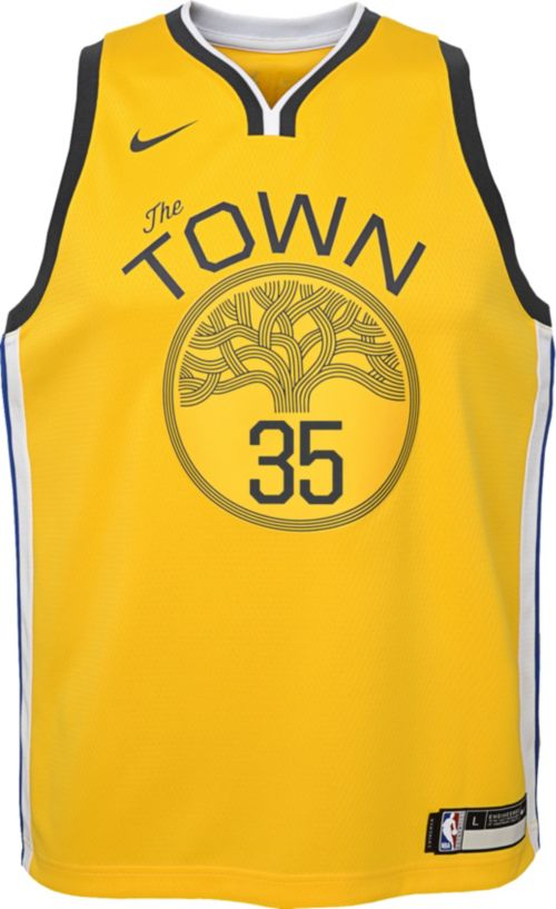 4a40a93ec Nike Youth Golden State Warriors Kevin Durant Dri-FIT Earned Edition  Swingman Jersey