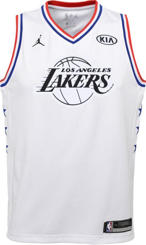 4028a4e0cc31 Jordan Youth 2019 NBA All-Star Game LeBron James White Dri-FIT Swingman  Jersey
