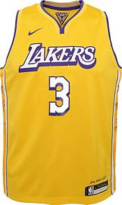 Nike Youth Los Angeles Lakers Anthony Davis #3 Yellow Dri-FIT Swingman Jersey product image