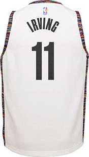 Nike Youth Brooklyn Nets Kyrie Irving #11 White Dri-FIT City Edition Swingman Jersey product image