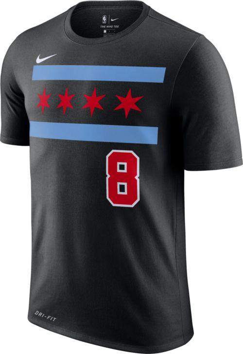 7a4444924 Nike Youth Chicago Bulls Zach LaVine Dri-FIT City Edition T-Shirt ...