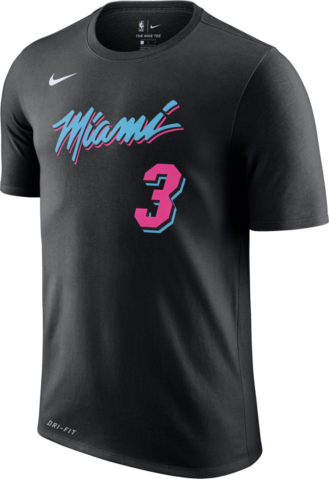 sale retailer 91fec ab3a0 Nike Youth Miami Heat Dwyane Wade Dri-FIT City Edition T-Shirt
