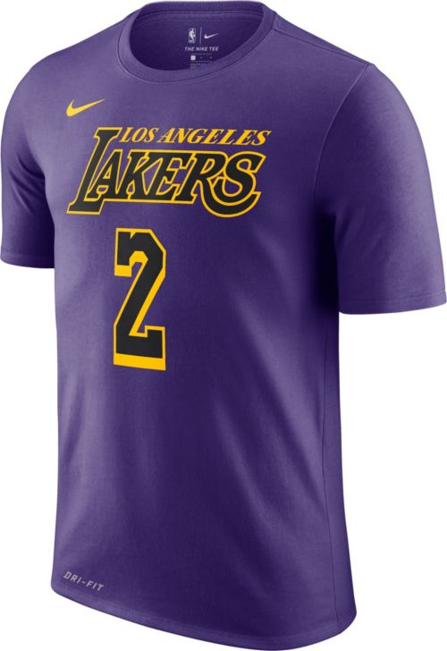 Nike Youth Los Angeles Lakers Lonzo Ball Dri-FIT City Edition T-Shirt cd4f630fb