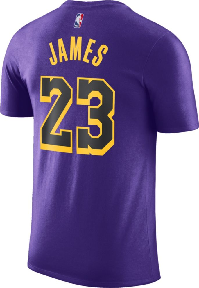 timeless design 2871e f343e Nike Youth Los Angeles Lakers LeBron James Dri-FIT City Edition T-Shirt