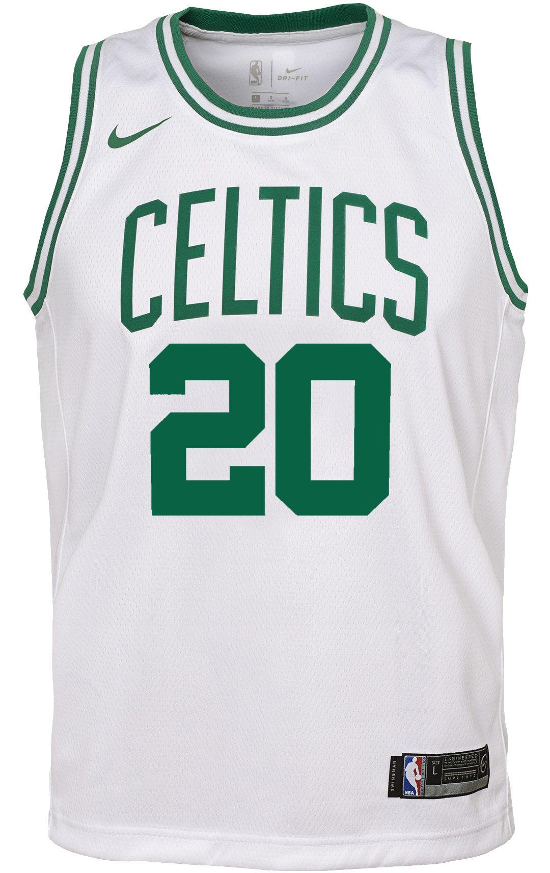 half off a0ed2 695c0 Nike Youth Boston Celtics Gordon Hayward #20 White Dri-FIT Swingman Jersey