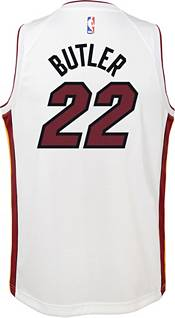 Nike Youth Miami Heat Jimmy Butler #22 White Dri-FIT Swingman Jersey product image