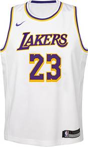 Nike Youth Los Angeles Lakers LeBron James Dri-FIT White Swingman Jersey product image