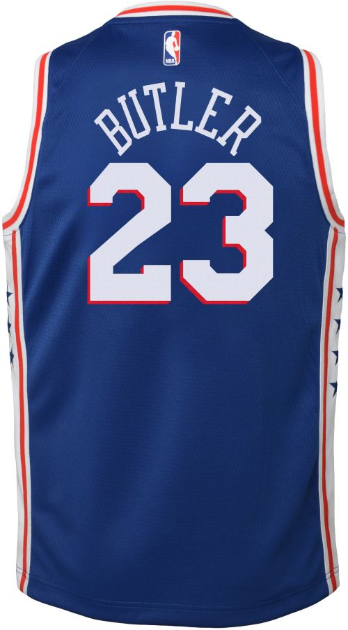 b3530020920b Nike Youth Philadelphia 76ers Jimmy Butler  23 Royal Dri-FIT Swingman Jersey.  noImageFound. Previous. 1. 2. 3