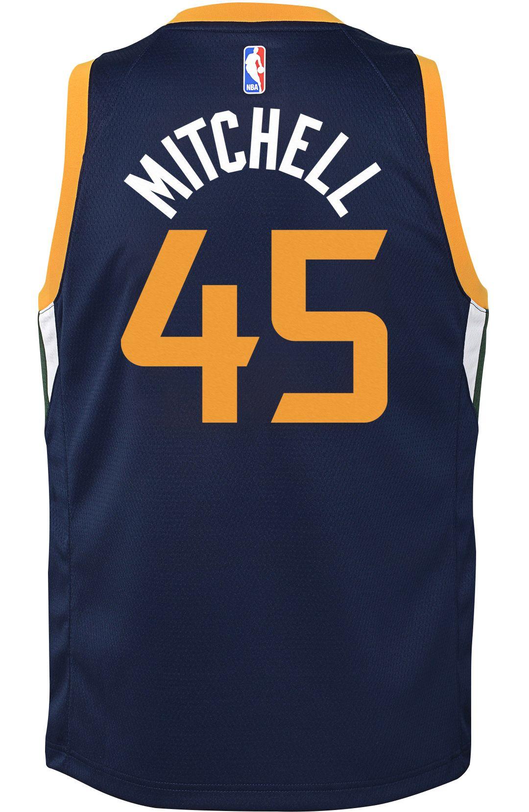 designer fashion abdea a143d Nike Youth Utah Jazz Donovan Mitchell #45 Navy Dri-FIT Swingman Jersey